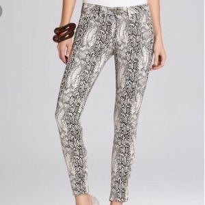 Hudson snakeskin jeans
